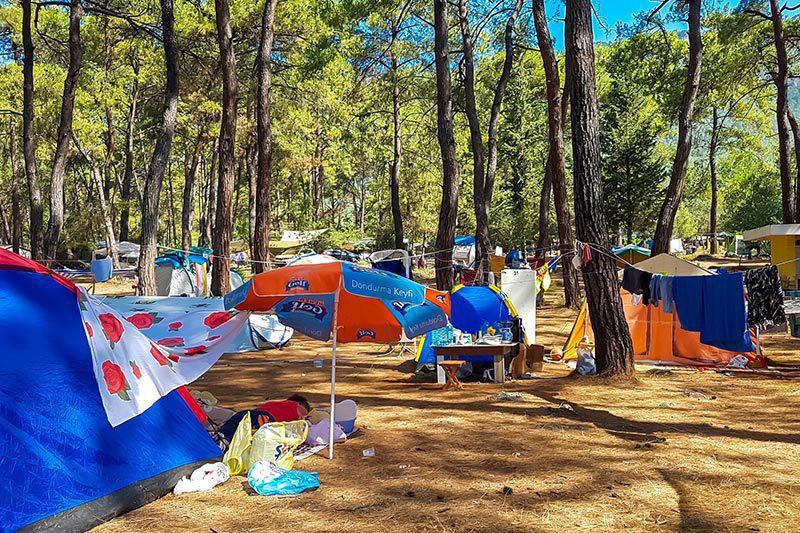 mugla akyaka orman kampi cadir konaklama