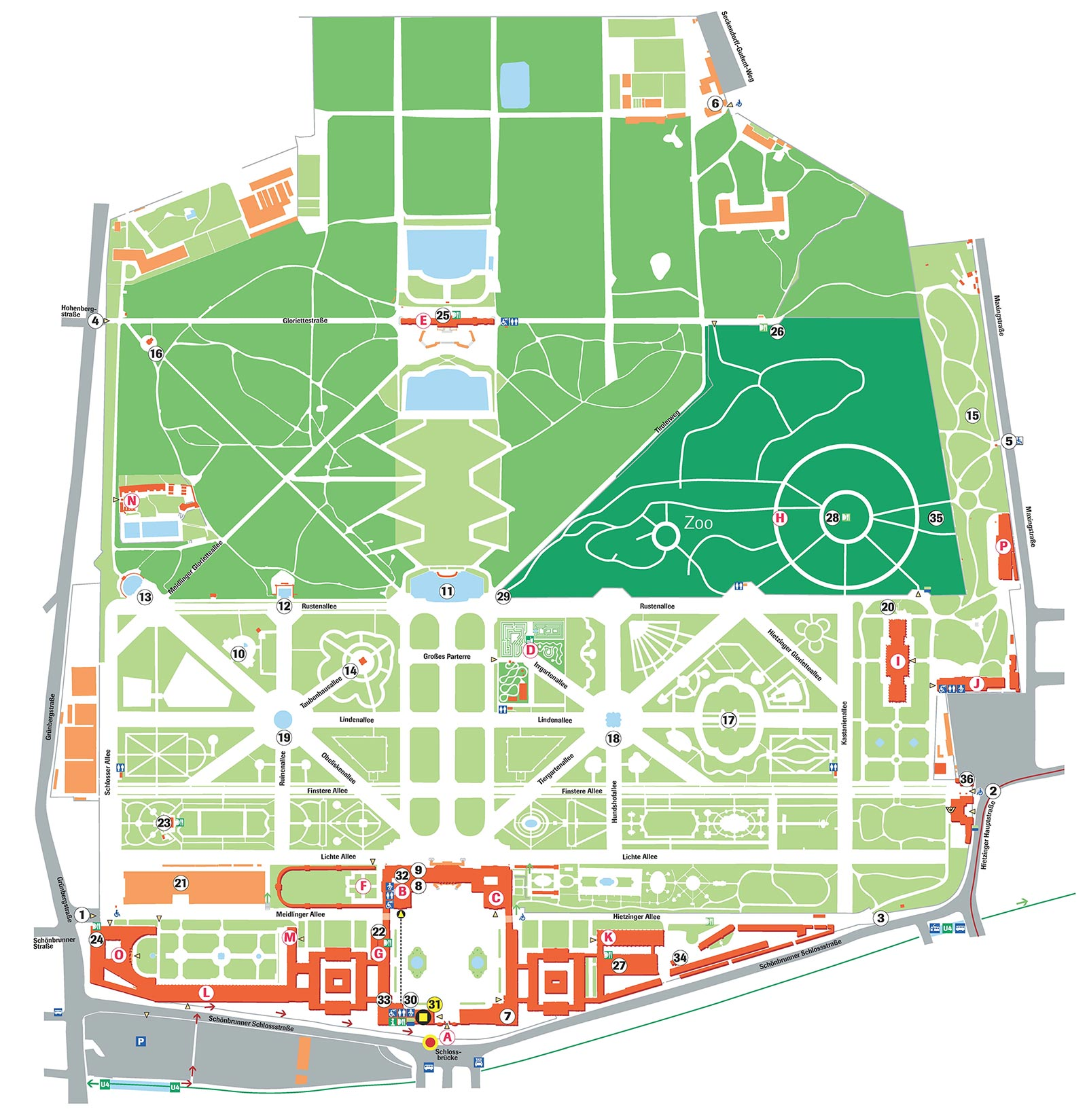 avusturya schonbrunn sarayi haritasi