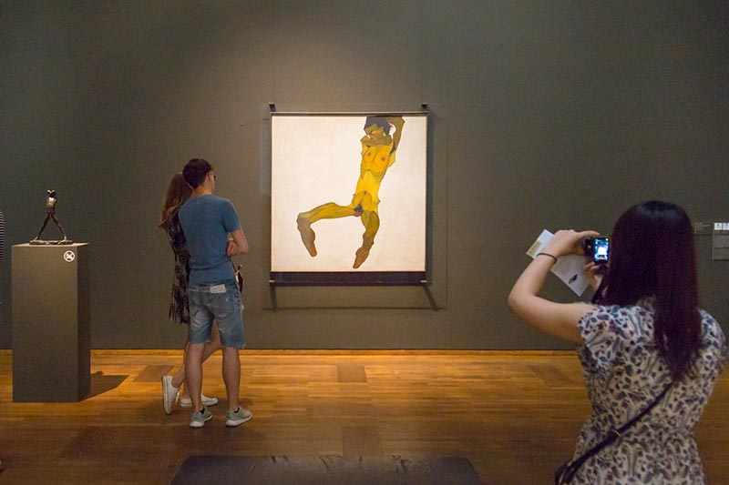 viyana museumsquartier leopold muzesi egon schiele eserleri