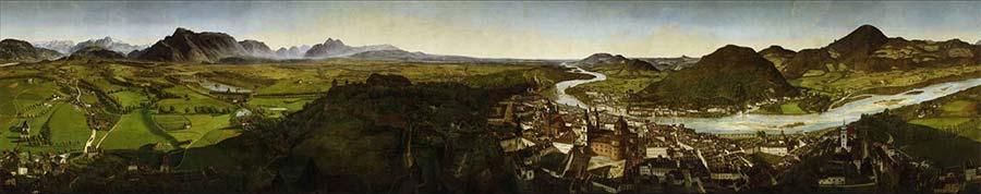 salzburg panorama muzesi panoramik duvar resmi