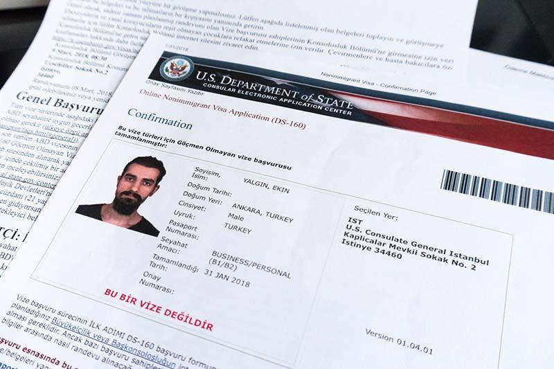 abd vizesi gerekli belgeleri visa confirmation kagidi
