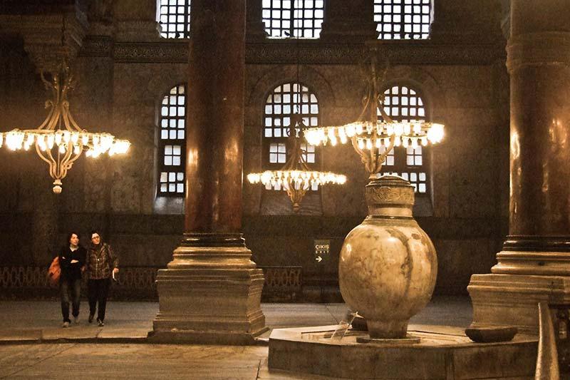 ayasofya muzesi mermer kupler